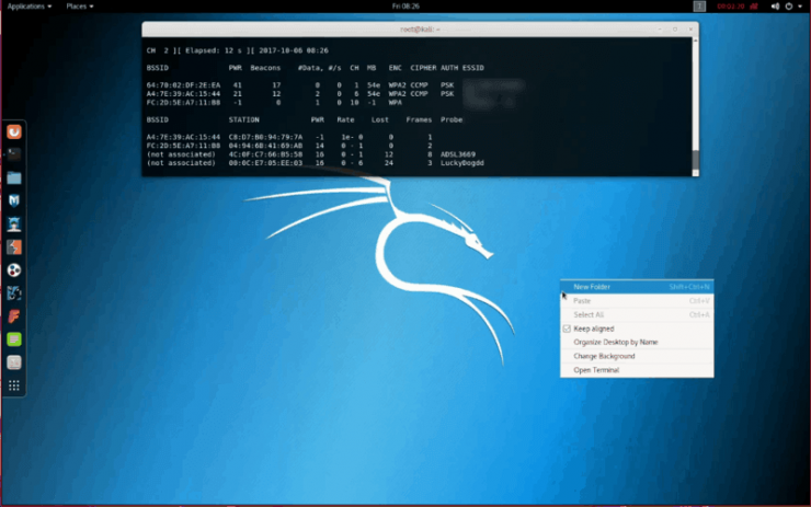 hack using kali linux commands