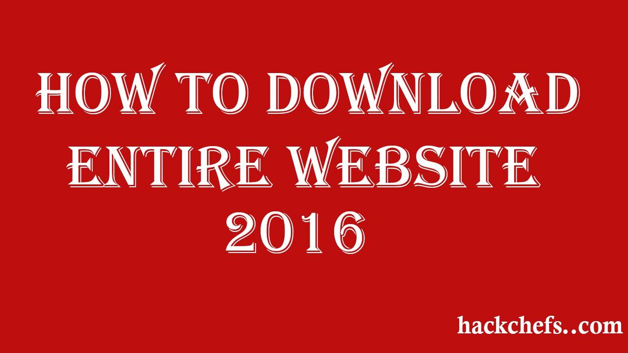 Download Entire website