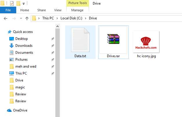 Step 2: Compress both files