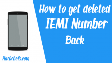 restore IMEI Number