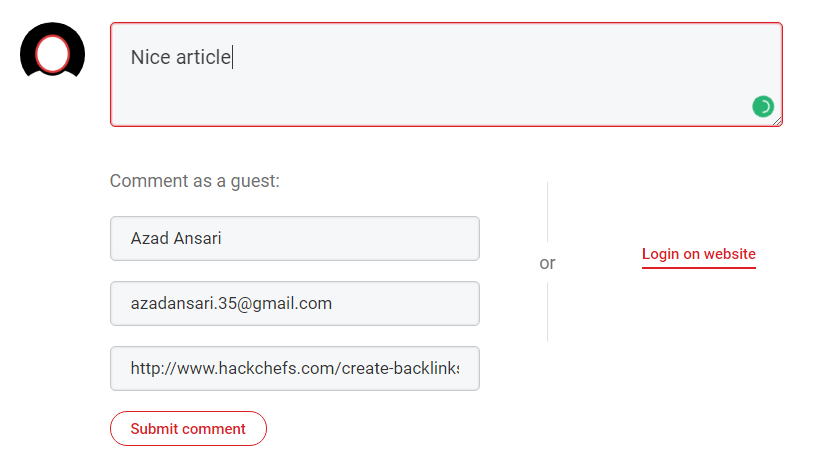 create backlink using commenting