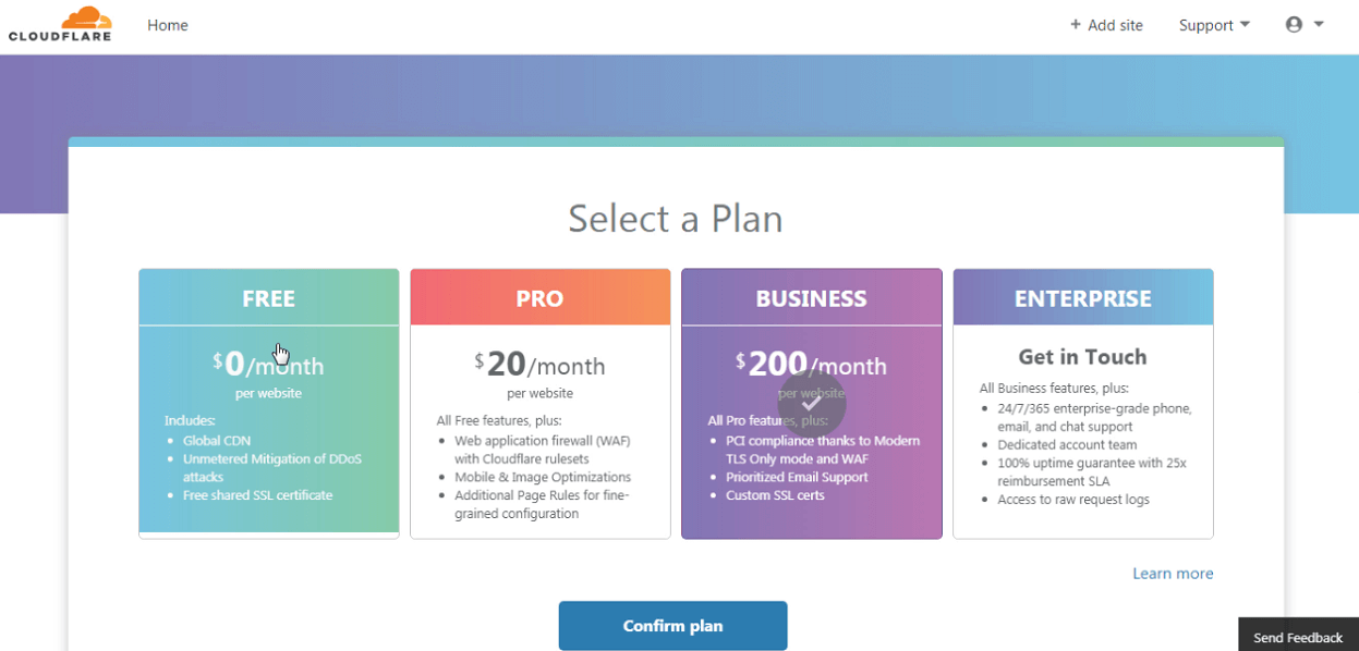 cloudflare pricing and plans