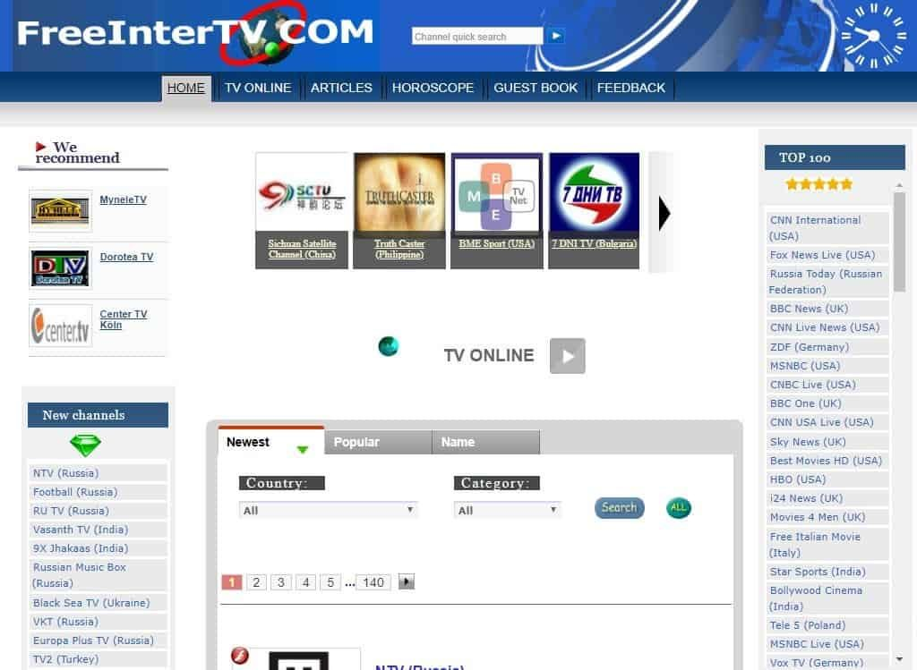freeintertv - FirstOneTv Alternative