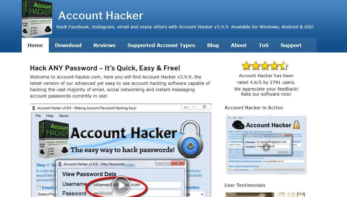 Instaleak - Secretly Hack Instagram Account Login Details