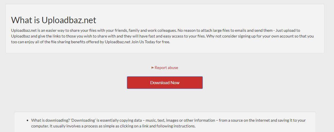 download from third party website uploadbaz