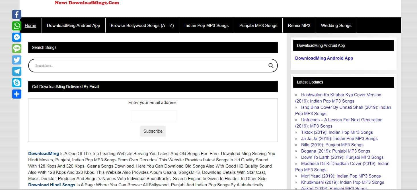 downloadming website