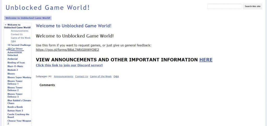 unblocked game world