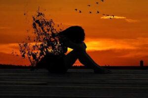 sunset sad image