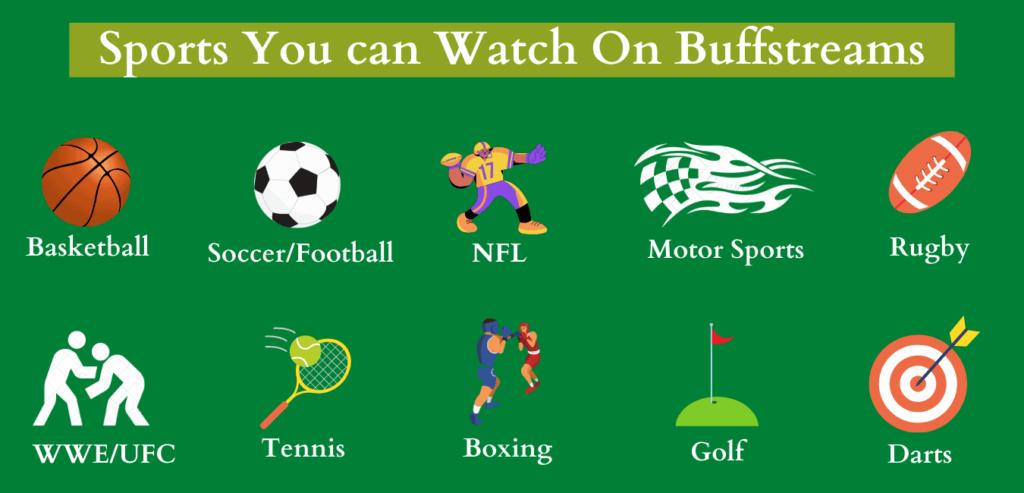 Sports list of Buffstreams