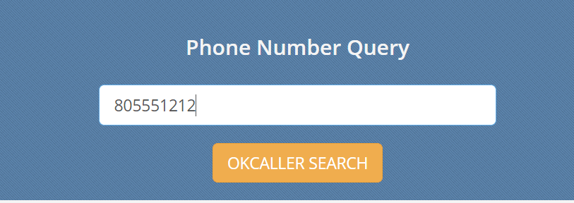 Search phone number in okcaller